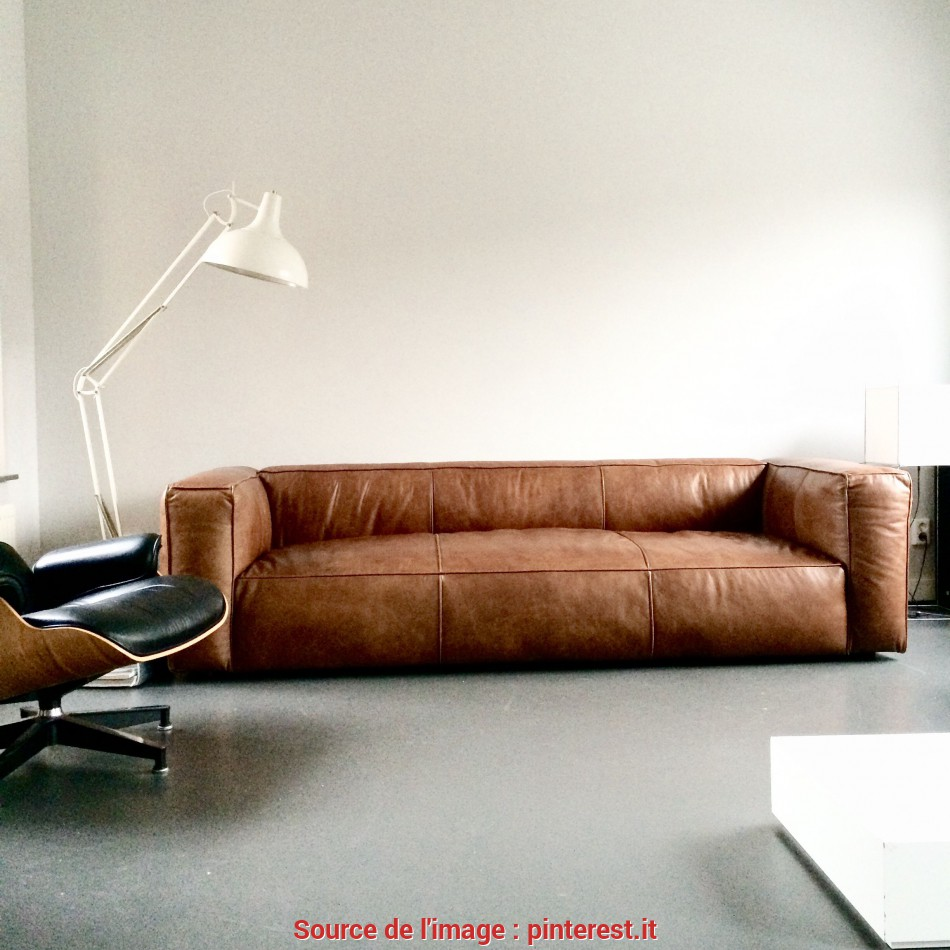 Trending Love This Vintage Design Leather Sofa #Cognac #Sofa, Sofas