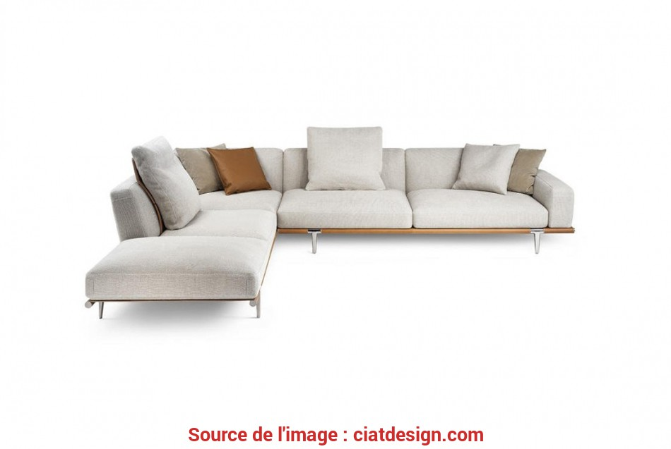 Esperto Let It Be Sofa With Chaise Longue By Poltrona Frau