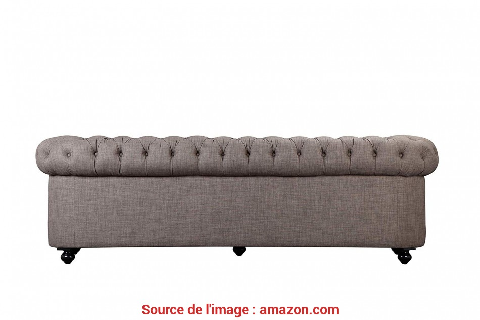 Stupefacente Amazon.Com: Pangea Home, Z-Chester-3 3 Seater Sofa In Fabric, Brown: Kitchen & Dining