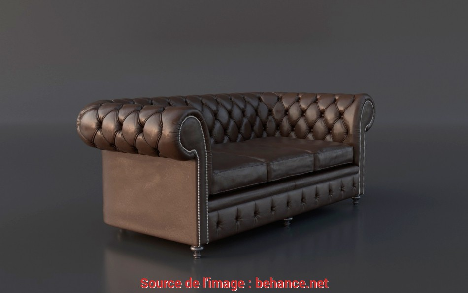 Eccezionale FREE Chesterfield Couch 3D Model On Behance