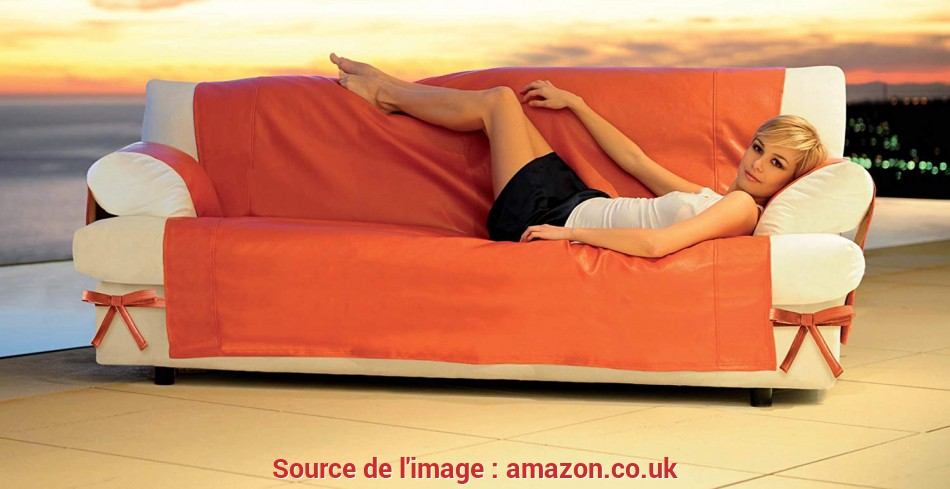 Stupefacente Genius Sofa Cover PU Leather Skin Solid Colours Poltrona Bianco SK 500: Amazon.Co.Uk: Kitchen & Home