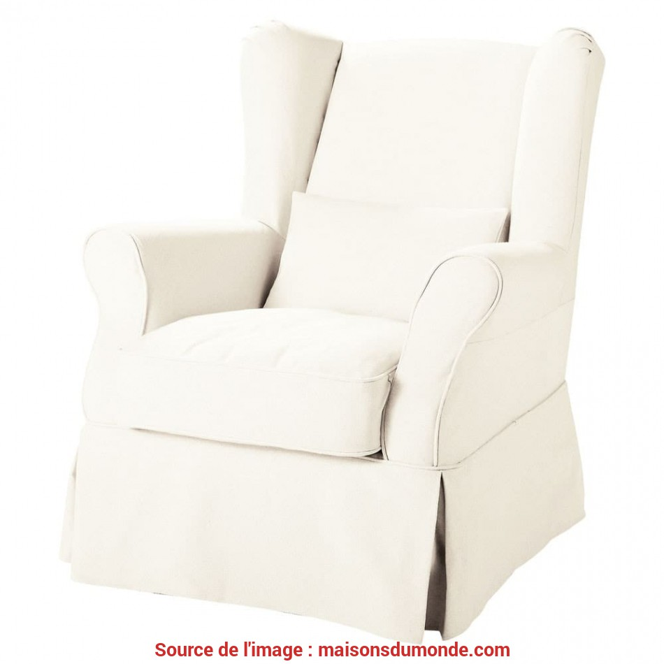 Esotico Fabric Armchair To Cover In White Cottage
