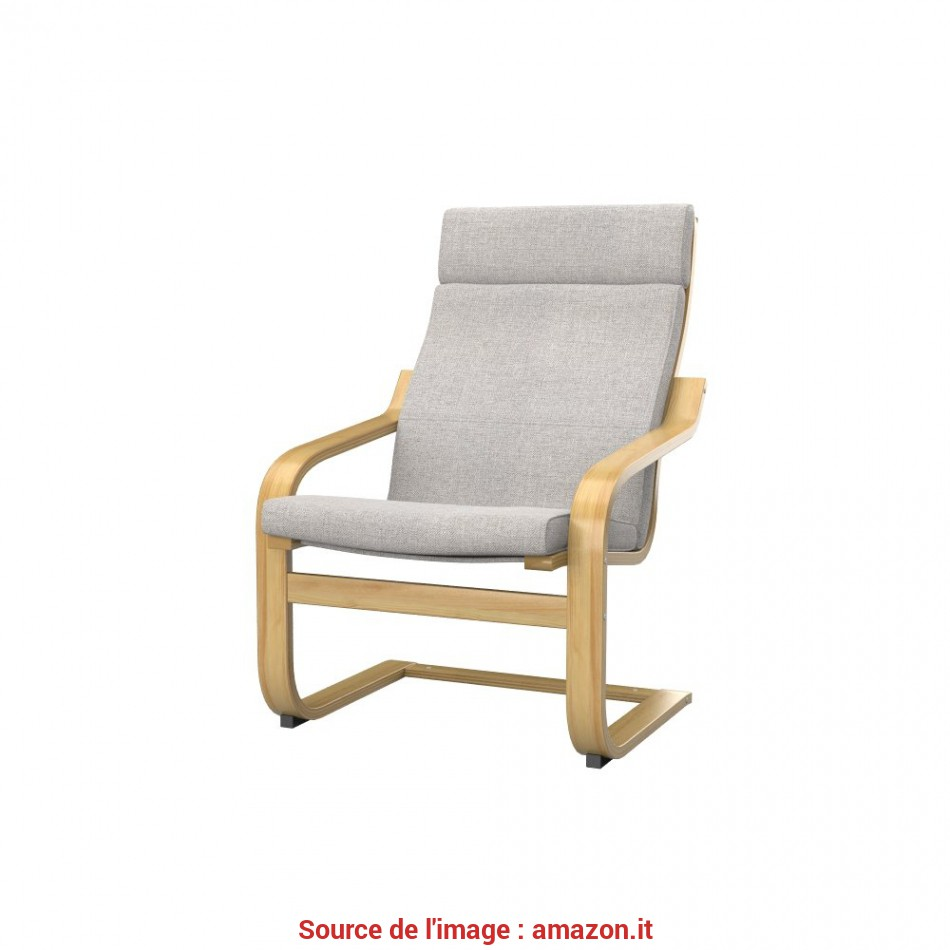 Elegante Soferia, Ikea POÄNG Fodera, Poltrona, Naturel Beige: Amazon.It: Casa E Cucina