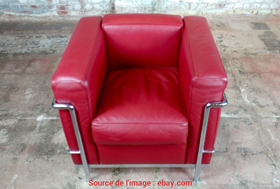 Perfezionare Le Corbusier, Red Leather Poltrona Armchair By Cassina-A Pair, EBay