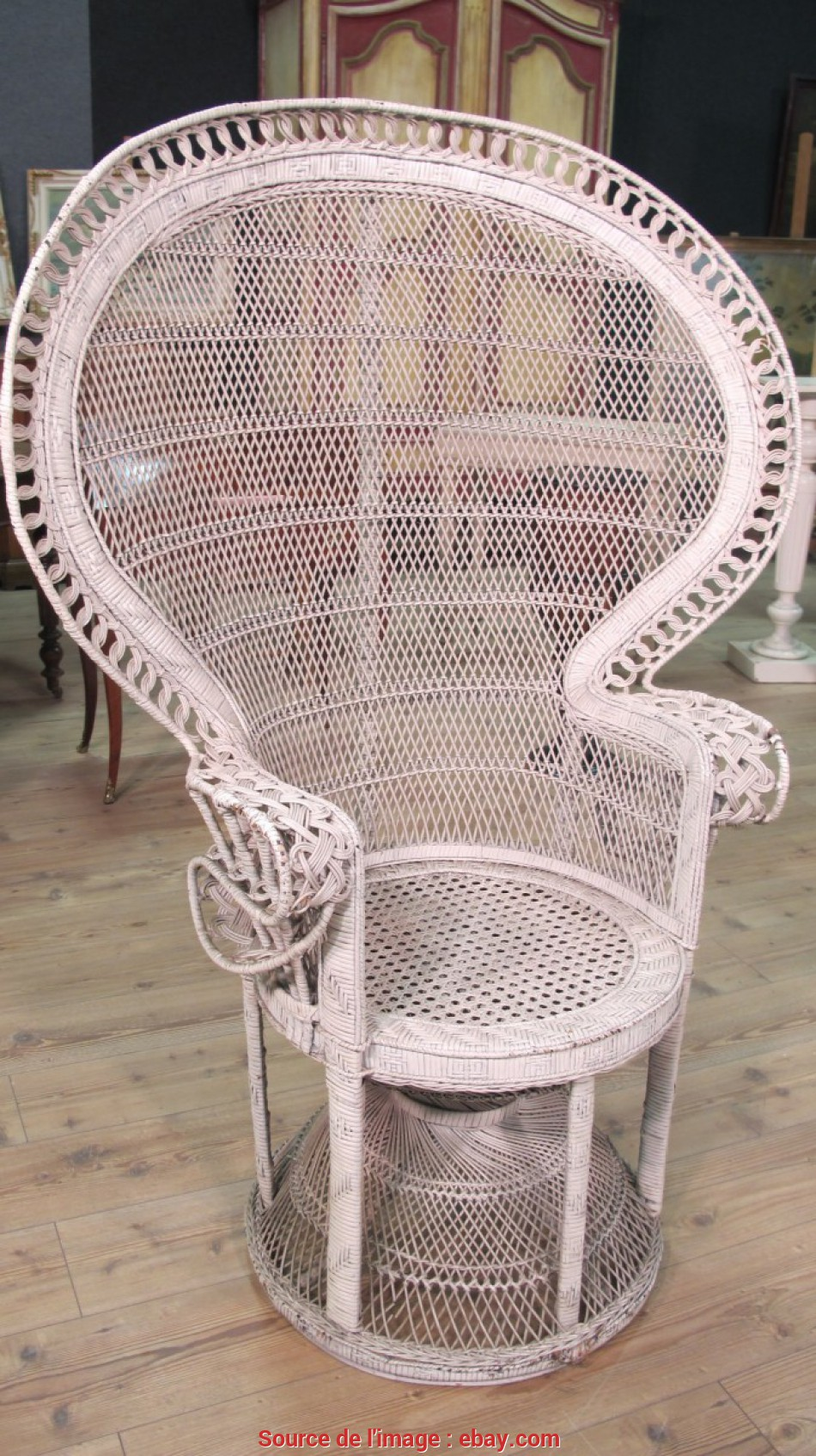 Nuovo Details About Armchair Wicker Rattan Furniture Antique Style Vintage Chair Outdoor Antique