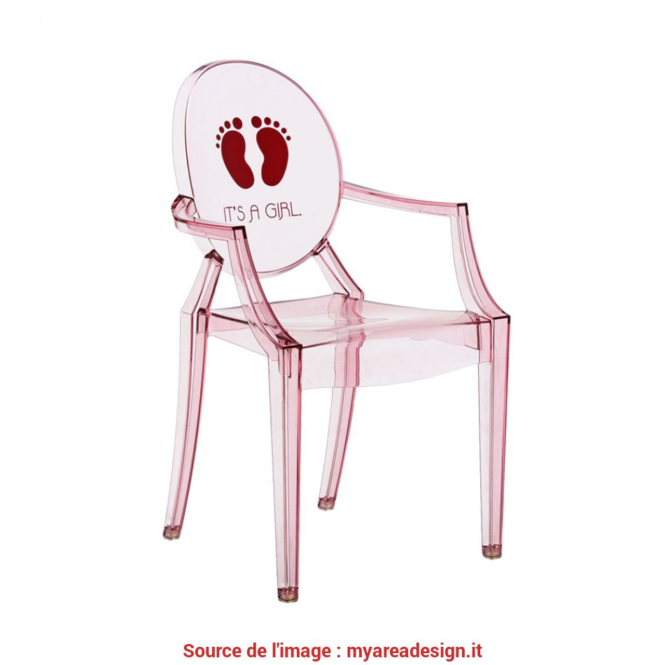 Superiore KARTELL KIDS Sedia, Bambini, LOU GHOST (Rosa / It