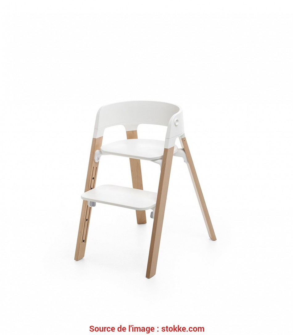 Nuovo Stokke® Steps™ Chair White Seat Natural Legs
