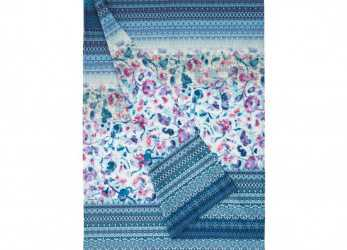 Lussuoso Bassetti Granfoulard Copridivano Telo Arredo Sangallo Var.3 Turchese 350X270: Amazon.Co.Uk: Kitchen & Home