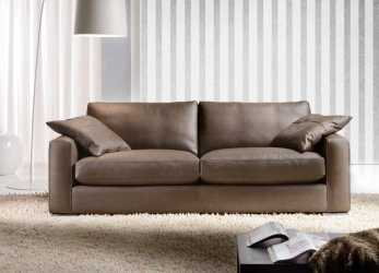 Elegante Max Leather Sofa, Cava Divani