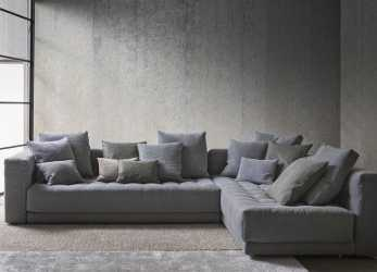 Sbalorditivo Corner Upholstered Fabric Sofa DOZE Doze Collection By Flou, Design Rodolfo Dordoni Divano Letto