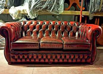 Fresco Divani Chesterfield Usati In Pelle Vintage Originali Inglesi