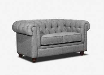 Stupefacente Chesterfield Sofa Grey, Home Sofa