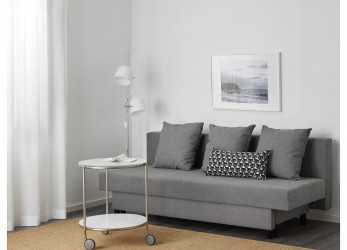 Superiore ASARUM Three-Seat Sofa-Bed, Grey