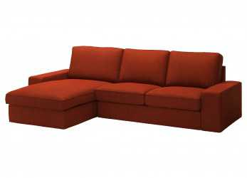 Eccezionale KIVIK Two-Seat Sofa, Chaise Longue, Isunda Orange, IKEA