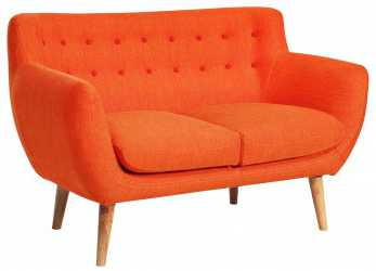 Bello Divano Coogee 2 Posti Orange Sofa, Deco Retro, Love Your Home, Cozy Bedroom