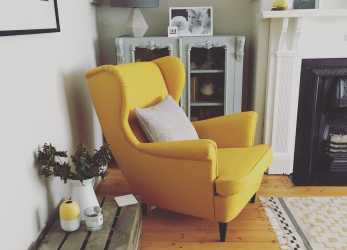 Esperto Strandmon Chair IKEA. Love This Yellow Beauty., Living Room 2 In