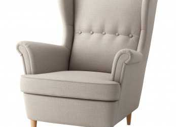 Sbalorditivo STRANDMON, Wing Chair, Skiftebo Light Beige