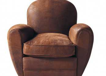 Confortevole Microsuede Club Armchair In,, Arizona. Microfibre Club Armchair In Brown Arizona, Maisons Du Monde