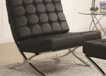 Ideale Modern Barcelona Chair (Black)