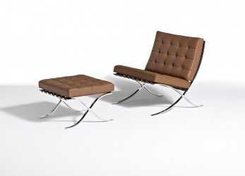 Freddo ... Mies Barcelona Collection Mies, Der Rohe Barcelona Chair Barcelona Stool; Knoll