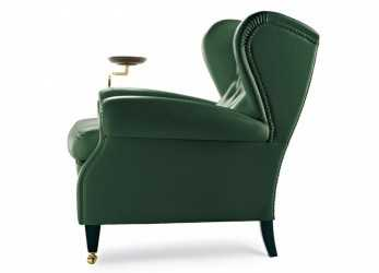 Nuovo 1919 Wingchair With Plate By Poltrona Frau, Home Decor