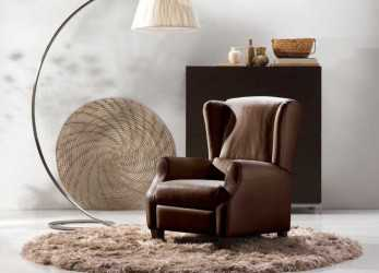 Perfezionare Traditional Armchair / Fabric / Leather / Wing, ALTEA, NATUZZI