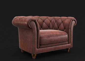 Preferito Chesterfield Armchair 3D Model,, .Oth .Max .Obj .Fbx, Free3D