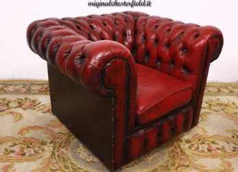 Ideale Poltrona Chesterfield Club Bordeaux (037)