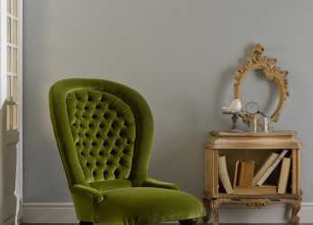 Antico Traditional Armchair / Velvet / High-Back / Green, POLTRONA CLASSICA