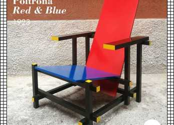 Bello Red, Blue Cassina Anni 80, : #Design #Modernariato #Antiquariato #