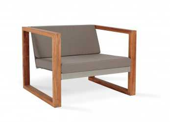 Unico Poltrona Lounge Teak, CIMA LOUNGE Collection, FueraDentro
