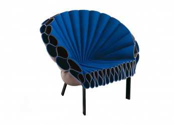 Superiore Poltrona Design Originale / In Feltro / Grigia /,, PEACOCK By
