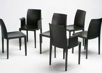 Premio Lola Dining Chairs By Luigi Cerri, Poltrona Frau,, Of 6