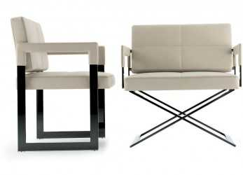 Elegante POLTRONA FRAU ASTER X LOUNGE CHAIR