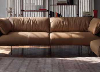 A Buon Mercato Contemporary Sofa / Leather / Aluminium / By Jean-Marie Massaud, JOHN-JOHN