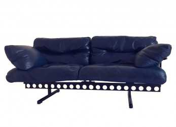 "Bello ""OUVERTURE"" LEATHER LOUNGE SOFA BY PIERLUIGI CERRI MANUFACTURED BY POLTRONA FRAU"