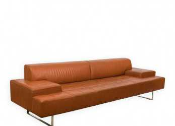 Bello Poltrona Frau Quadra Leather Sofa On LiveAuctioneers