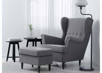 Bello STRANDMON Wing Chair, Nordvalla Dark Gray