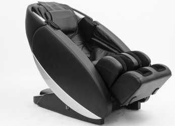 Elegante Poltrona Massaggio Shiatsu Full Optionals Ecopelle Nera