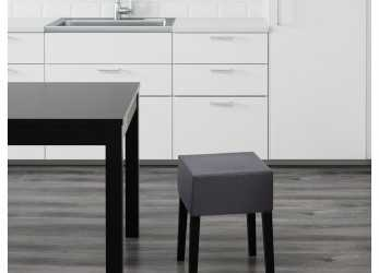 Esotico NILS Stool, Black, Skiftebo Dark Gray