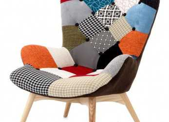 Originale Fashion Commerce Patchwork Armchair, Wood, Multicoloured, 70 X 78 X 96, Amazon.Co.Uk: Kitchen & Home