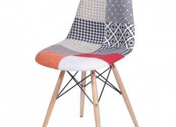 Superiore Cadeira Eames Patch Work Base Madeira, 25242, SunHouse