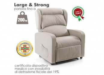 Elegante Poltrona Large & Strong 200Kg. Loading Zoom