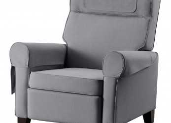 Elegante IKEA MUREN Recliner When, Lean Backwards,, Built-In Footstool Folds Out