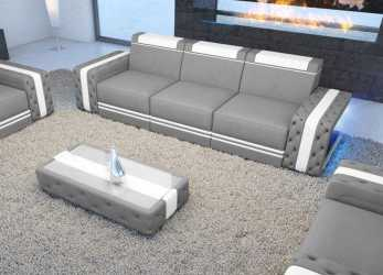 Bello Poltrone E Sofa Vasto Più Recente Divano In Pelle, Posti Imperial, Led Nativo