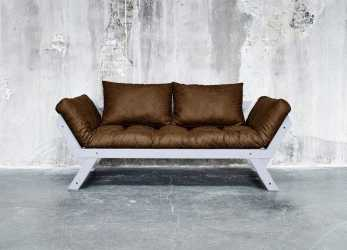 Ideale Divano Letto Futon BEBOP Vintage Collection Karup In Legno Cool Gray