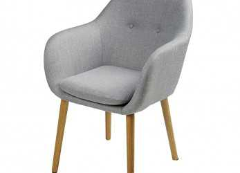 Unico Light Grey Vintage Armchair Arnold