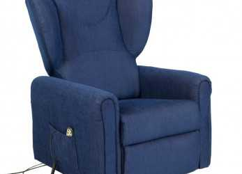 Elegante Electric Reclining Armchair With Fabric Lifter Blue