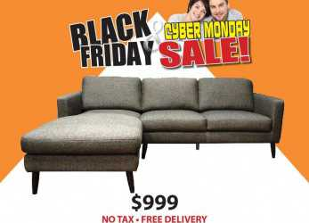Trending Divani Black Friday Black Friday Sale On, Ellen Sectional Only, Including Ta Free Local