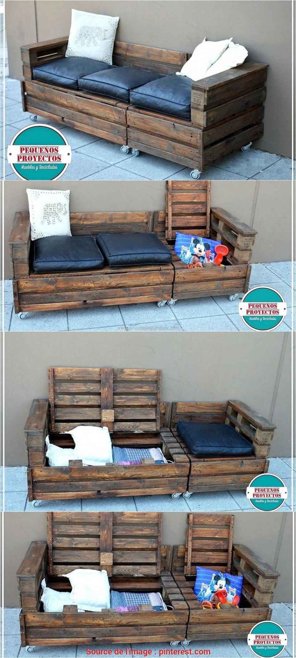 Premio The Reshaping Wood Pallet Ideas With, Storage Option, The Best Because They Help In Avoiding, Mess In A Room, This Idea Is A Combination As It